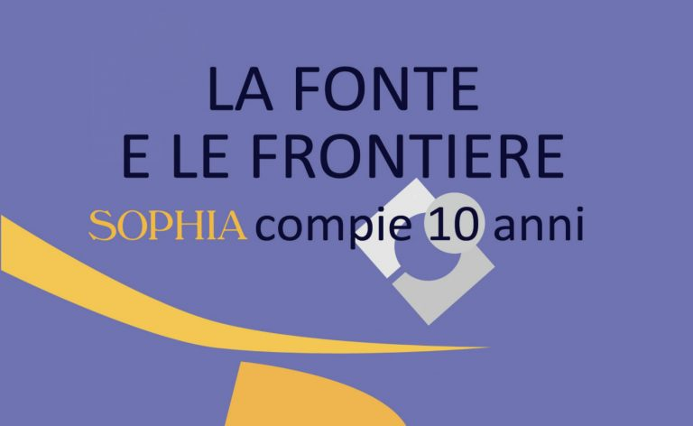Novità editoriale per i 10 anni di Sophia