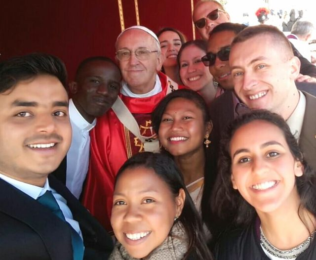 con papa Francesco pre-sinodo 2018