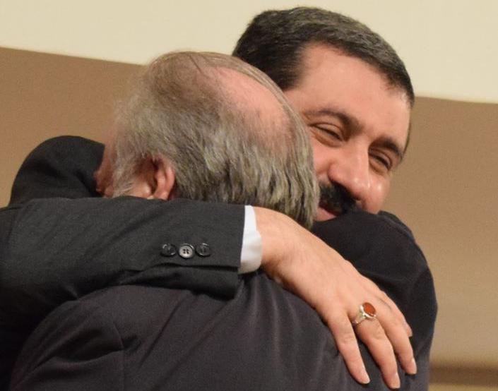 Abbraccio Piero e Shomali