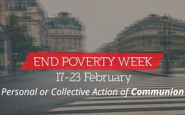 """""""End Poverty Week"""" dal 17 al 23 febbraio 2019"""