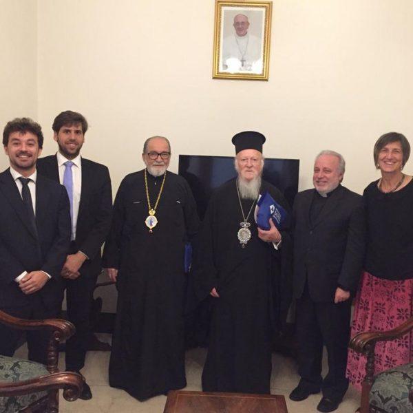 con il patriarca Bartolomeo