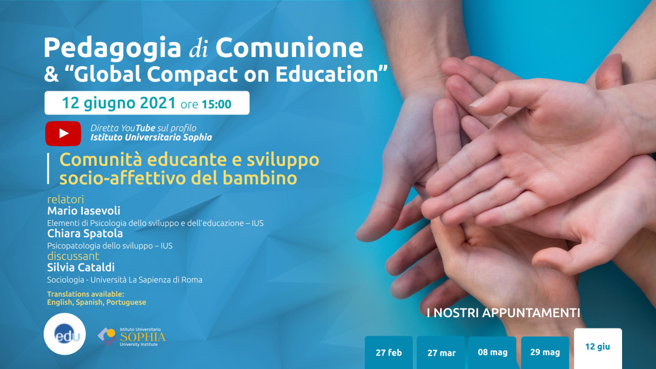 Webinar Pedagogia di Comunione e Global Compact on Education - 12 giugno 2021
